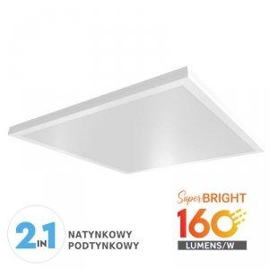 Panel LED V-TAC 25W 600x600x55mm 160lm/W Natynkowy/Podtynkowy VT-6125 3000K 4000lm