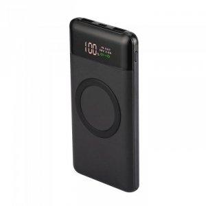 Power Bank V-TAC 10000mah Wireless Dual USB+TypeC+Led Screen Czarny VT-3521