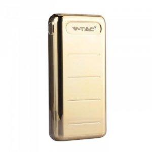 Power Bank V-TAC 20000mah Złoty Dual USB+TypeC VT-3523