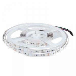 Taśma LED V-TAC SMD5050 600LED 24V IP20 10mb 9W/m VT-5050 RGB 1000lm