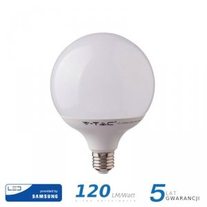 Żarówka LED V-TAC SAMSUNG CHIP 22W E27 G120 120lm/W VT-242 4000K 2650lm 5 Lat Gwarancji