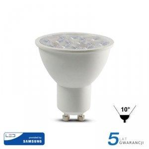Żarówka LED V-TAC SAMSUNG CHIP GU10 6W 10st VT-249 6400K 500lm 5 Lat Gwarancji