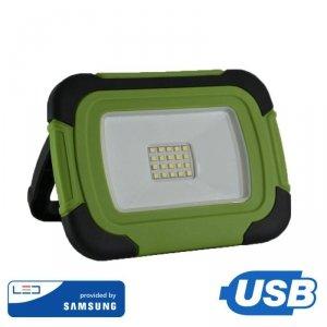 Projektor LED V-TAC 10W Ładowalny USB SAMSUNG CHIP 3,7V Li-Ion IP44 VT-10-R 4000K 700lm