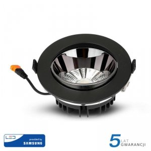 Oprawa Downlight V-TAC SAMSUNG CHIP 20W Czarna Uchylna VT-2-23 6400K 1600lm 5 Lat Gwarancji