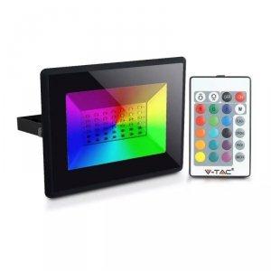 Projektor LED V-TAC 50W Czarny IP65 Pilot VT-4952 RGB