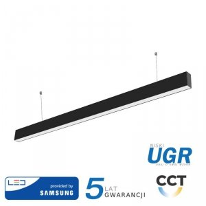 Oprawa V-TAC LED Linear SAMSUNG CHIP 40W Do łączenia Zwieszana Czarna Barwa 3w1 UGR19 120cm VT-7-44 3W1 2500lm 5 Lat Gwarancji