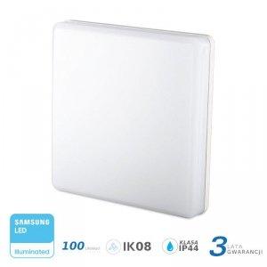 Plafon Natynkowy Kwadrat V-TAC 15W LED SAMSUNG CHIP IP44 100lm/W VT-8033 6400K 1500lm 3 Lata Gwarancji