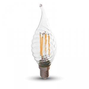 Żarówka LED 4W V-TAC Filament E14 Twist Świeczka Płomyk VT-1995 4000K 400lm