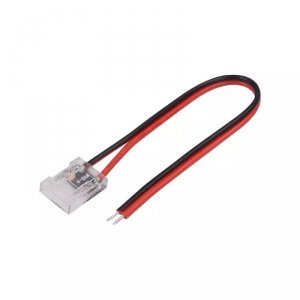 Konektor Złączka Taśm LED V-TAC Przeźroczysta Z przewodami Gęste/Zwykłe/COB 10mm