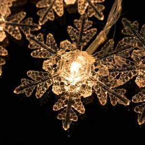 LAMPKI CHOINKOWE LED ŚNIEŻYNKI