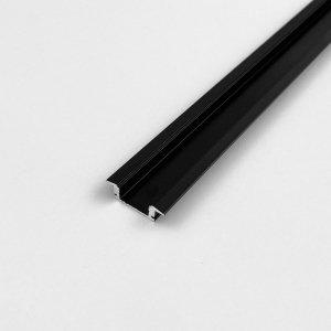 Profil LP-B wpuszczany czarny 2m.