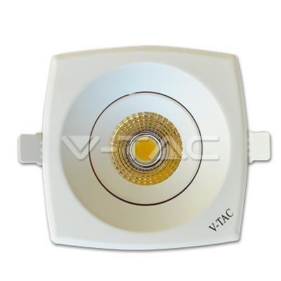 Oprawa V-TAC 8W LED V-TAC Downlight COB Kwadrat Biały VT-2908SQ 3000K 550lm