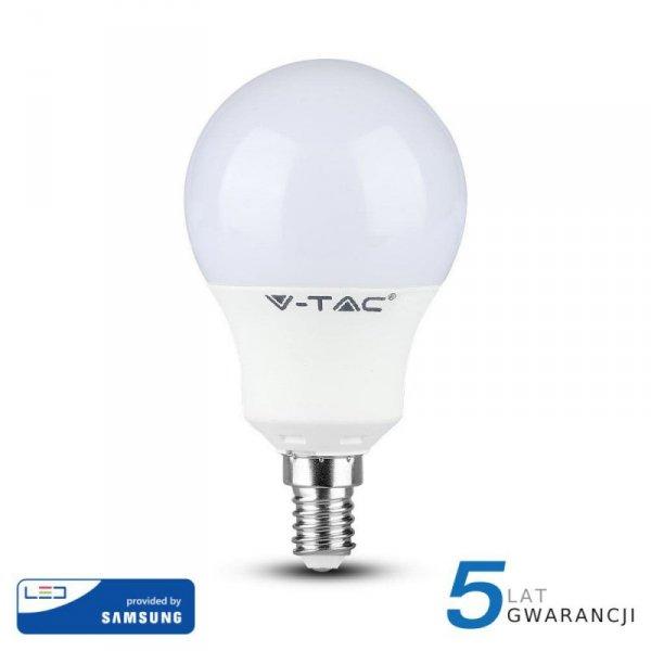 Żarówka LED V-TAC SAMSUNG CHIP 9W E14 Kulka VT-269 4000K 806lm 5 Lat Gwarancji