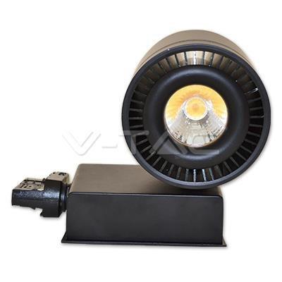 Oprawa Track Light LED V-TAC 33W 25st COB CRI95+ Czarny VT-4535 4000K 1800lm