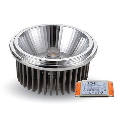 Żarówka LED V-TAC AR111 20W 230V 40st COB z zasilaczem 1800lm VT-1120 6000K 1500lm