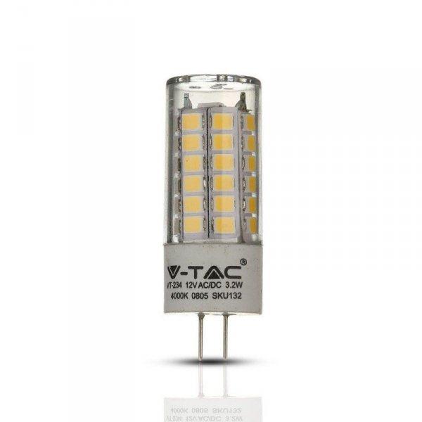 Żarówka LED V-TAC SAMSUNG CHIP 3.2W G4 12V VT-234 6400K 385lm 5 Lat Gwarancji
