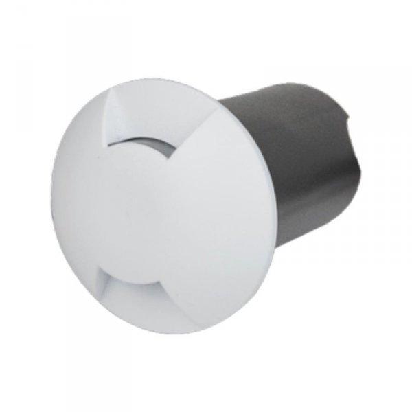 Oprawa Gruntowa 1W LED Biała 2-stronna IP67 VT-1161 6500K 10lm