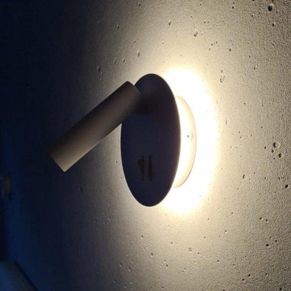 Oprawa LED V-TAC 3W+6W Kinkiet Hotel Łóżko Biały VT-2963 3000K 680lm 3 Lata Gwarancji
