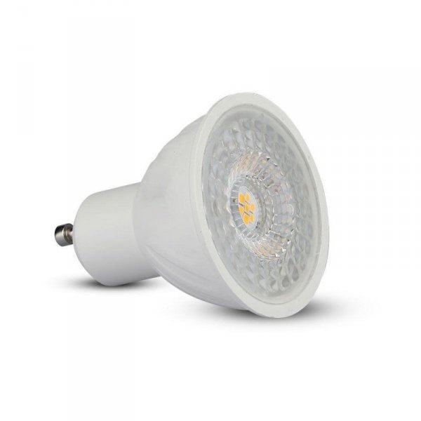 Żarówka LED V-TAC SAMSUNG CHIP 6.5W GU10 110st Ściemnialna VT-247 6400K 450lm 5 Lat Gwarancji