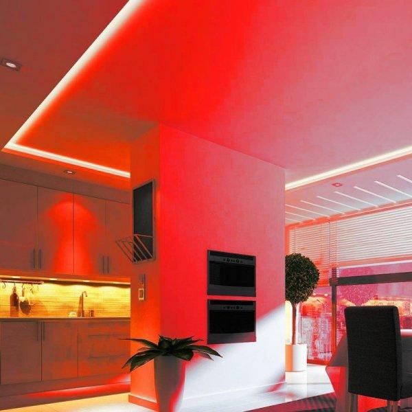 Taśma LED V-TAC SMD5050 300LED IP20 10,8W/m VT-5050 Czerwony 1000lm