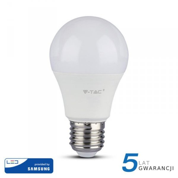 Żarówka LED V-TAC SAMSUNG CHIP 11W E27 A60 VT-212 6400K 1055lm 5 Lat Gwarancji