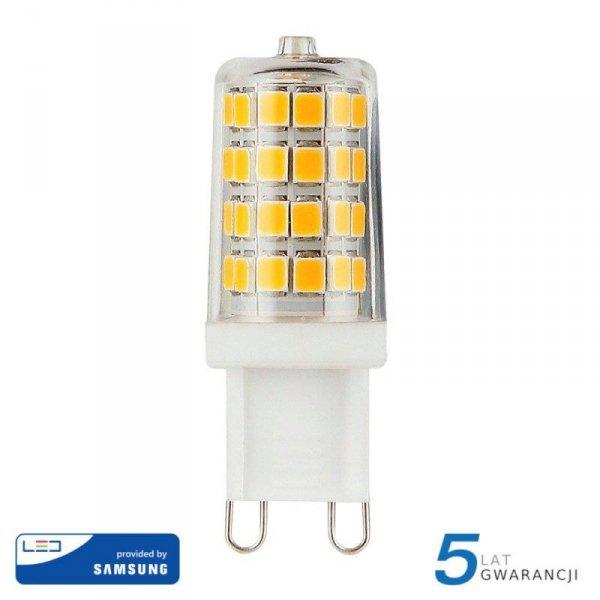 Żarówka LED V-TAC SAMSUNG CHIP 3W G9 VT-204 3000K 300lm 5 Lat Gwarancji