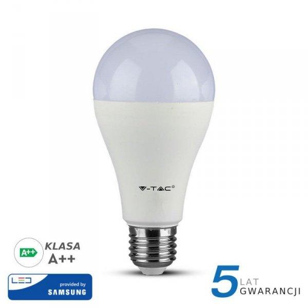 Żarówka LED V-TAC SAMSUNG CHIP 12W E27 A65 A++ VT-295 6400K 1521lm 5 Lat Gwarancji
