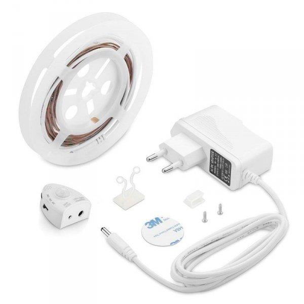 Nocne Oświetlenie LED V-TAC Czujnik Ruchu Pojedyncze Łóżko VT-8067 3000K 260lm 3 Lata Gwarancji