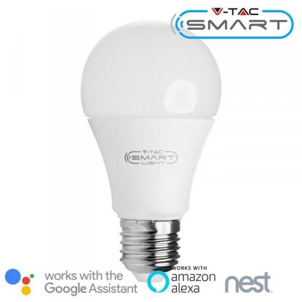 Żarówka LED V-TAC 10W E27 A60 SMART WiFi RGB+WW+CW VT-5119 806lm