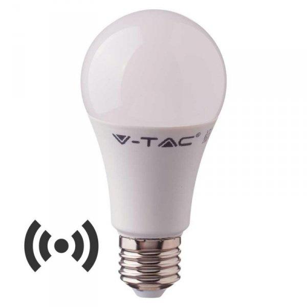 Żarówka LED V-TAC 9W E27 A60 Czujnik Mikrofalowy VT-2219 6400K 806lm