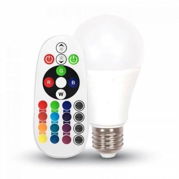 Żarówka LED V-TAC 9W E27 A60 Pilot VT-2229 6400K+RGB 806lm
