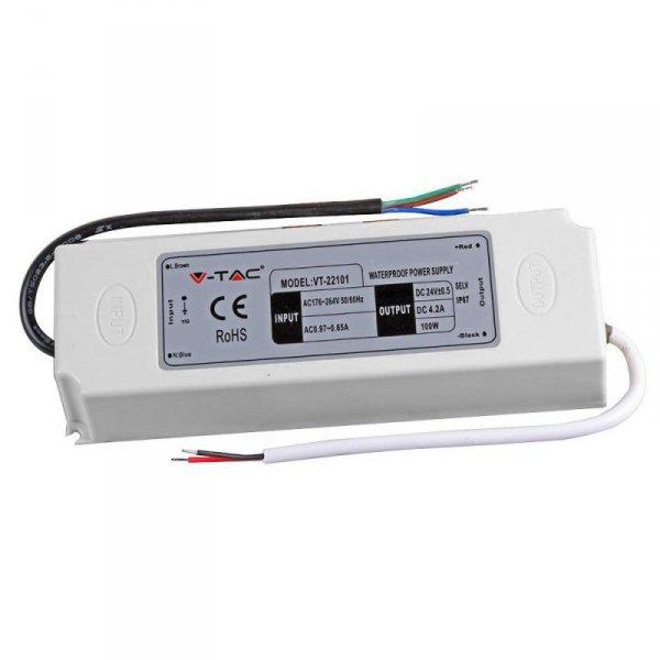 Zasilacz LED V-TAC 100W 24V 4.16A IP65 VT-22101