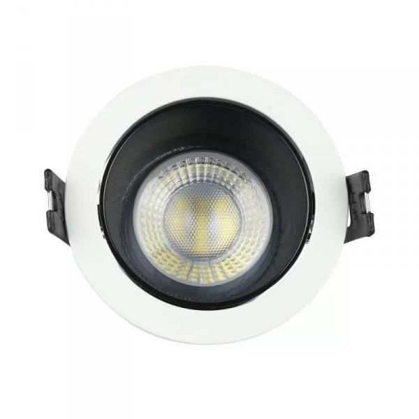 Oprawa Oczko V-TAC GU10 Wpuszczana Biały/Czarny Okrągła VT-872 3 Lata Gwarancji