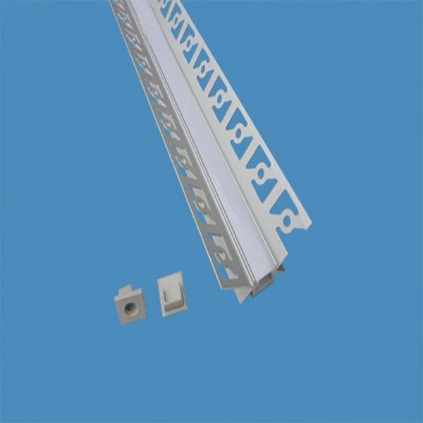 Profil Aluminiowy V-TAC Klosz Mleczny, Do gipsowania Narożny wewnętrzny 2000mm VT-8104