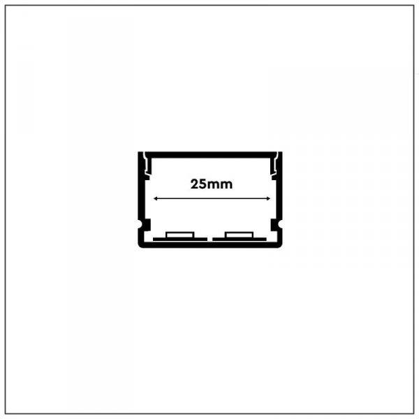 Profil Aluminiowy V-TAC 2mb Anodowany, Klosz Mleczny, Na dwie taśmy VT-8118 5 Lat Gwarancji
