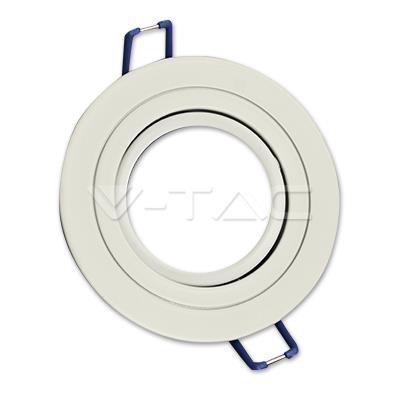 Oprawa Oczko V-TAC Aluminiowa Odlew 1xGU10 Okrągła Biała VT-782