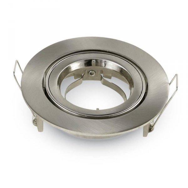 Oprawa Oczko V-TAC Aluminiowa Odlew GU10 Okrągła Ruchoma Satyna VT-775
