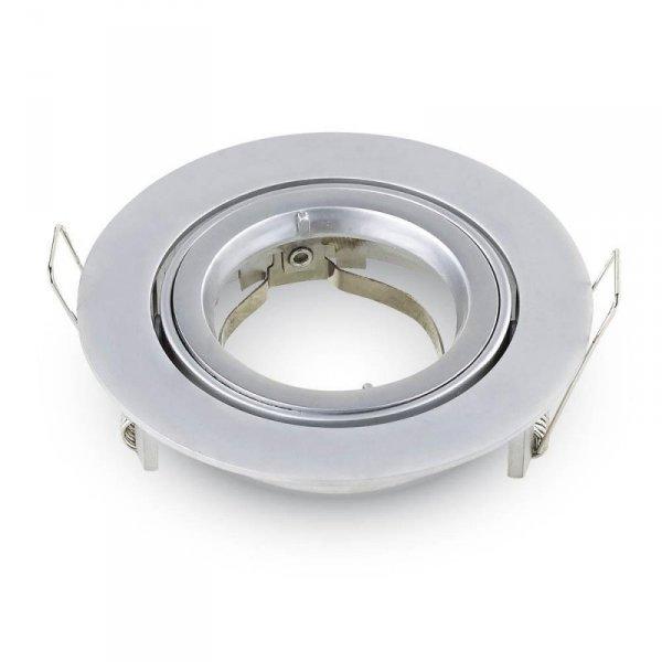 Oprawa Oczko V-TAC Aluminiowa Odlew GU10 Okrągła Ruchoma Srebrno Szary VT-775