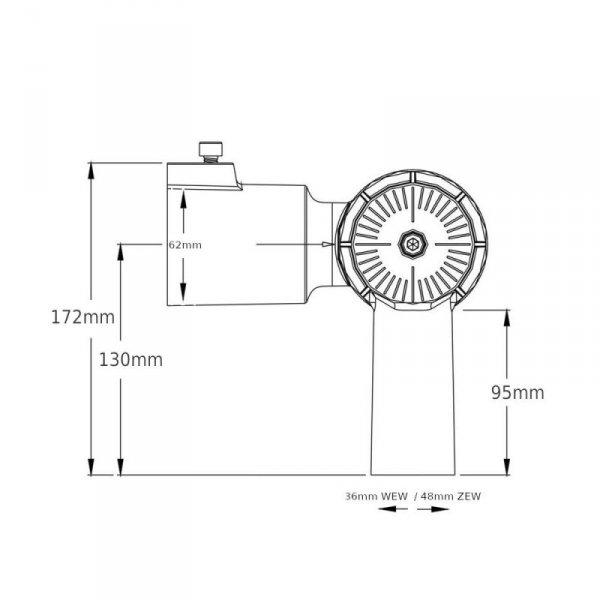 Wysięgnik Uchwyt Adapter do Lamp Ulicznych LED (30-50W) V-TAC VT-795-1