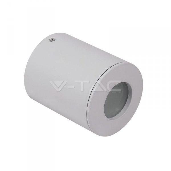 Oprawa V-TAC GU10 Natynkowa Tuba Okrągła z szybą Biała IP54 82x101 VT-700 3 Lata Gwarancji