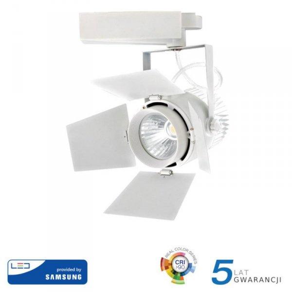 Oprawa 33W LED V-TAC Track Light SAMSUNG CHIP CRI90+ Biała VT-433 3000K 2640lm 5 Lat Gwarancji