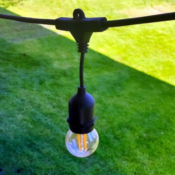 Girlanda Ogrodowa V-TAC (sznur) 5 metrów 10 oprawek E27 Guma+Gniazdo IP54 VT-7135