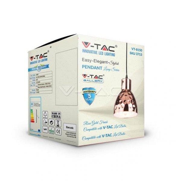Oprawa Wisząca V-TAC Różowe Złoto fi150 VT-8150 5 Lat Gwarancji