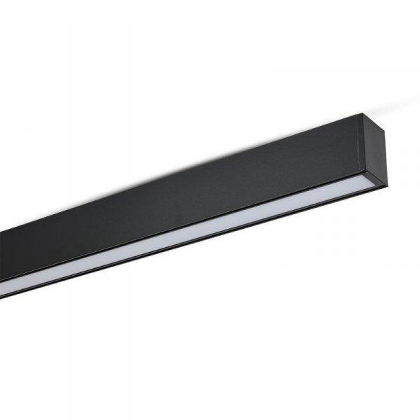 Oprawa V-TAC LED Linear SAMSUNG CHIP 40W Do łączenia Zwieszana Czarna 120cm VT-7-40-B 4000K 3200lm 5 Lat Gwarancji