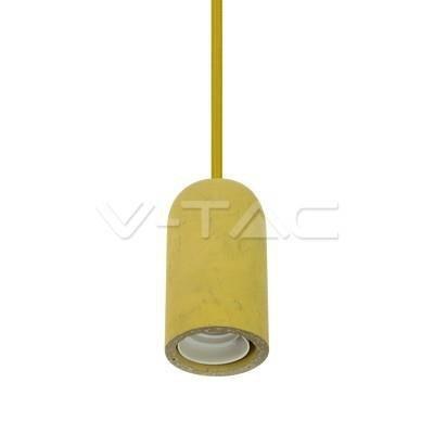 Oprawa Wisząca V-TAC BETON Żółty VT-7668 5 Lat Gwarancji