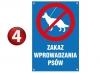 Znak zakaz wprowadzania psów 20/30cm (odblask)