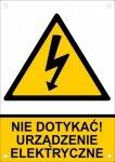 Nie dotykać urządzenie elektryczne