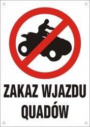Zakaz wjazdu quadów