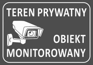 Tabliczka teren prywatny 42/29,7cm (odblask)