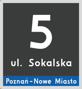 Tablica adresowa Poznań 23 cm x 25 cm